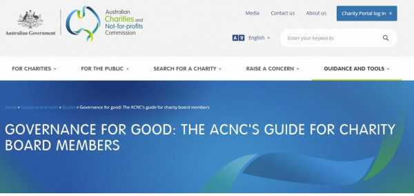Australian Charities and NFP Commission Governance