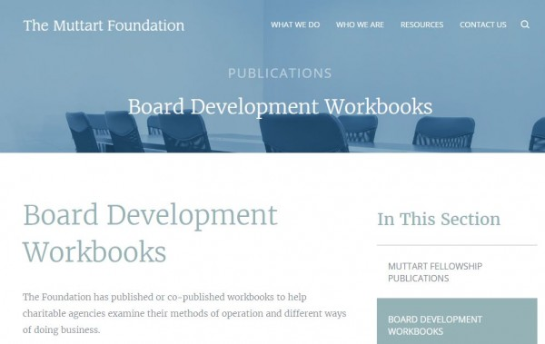 Muttart Foundation board development workbooks