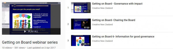 Creative NZ Getting on Board
