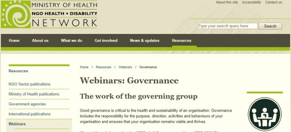 NGO Council webinar - Governance