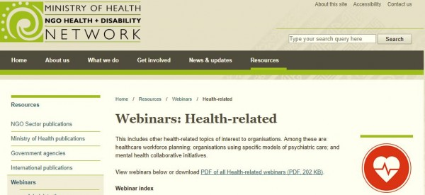 NGO Council webinar - health-related