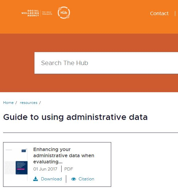 Enhancing administrative data